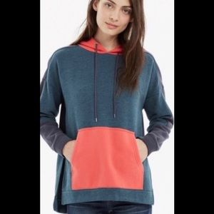 Madewell oversized colorblock side-slit hoodie